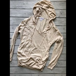 Motherhood Maternity Hooded Sweater